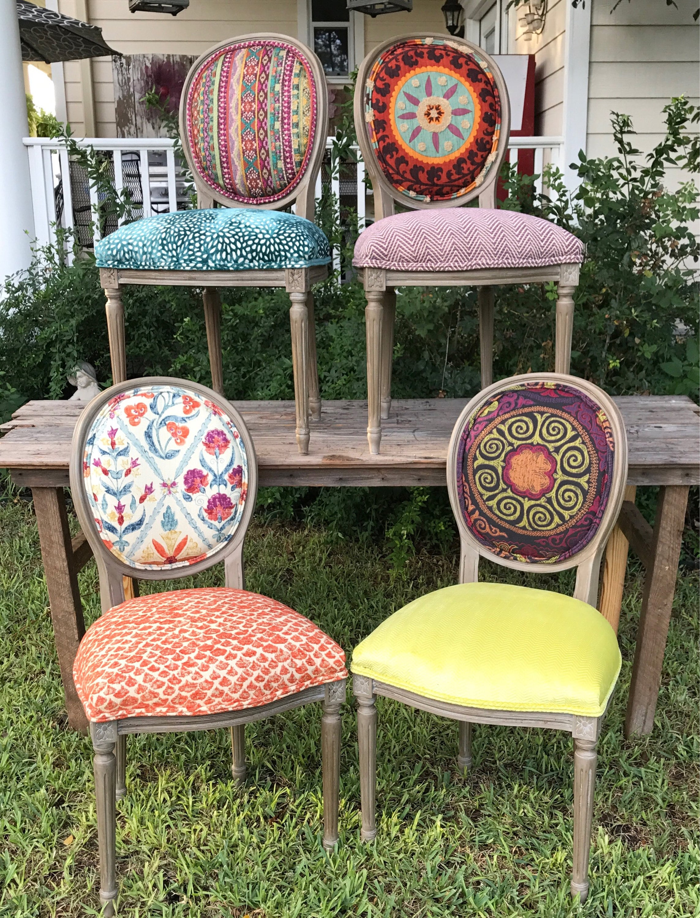 Eclectic Boho Dining Chairs | Etsy