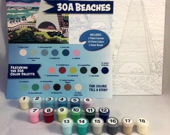 30A Beaches Paint by Numbers