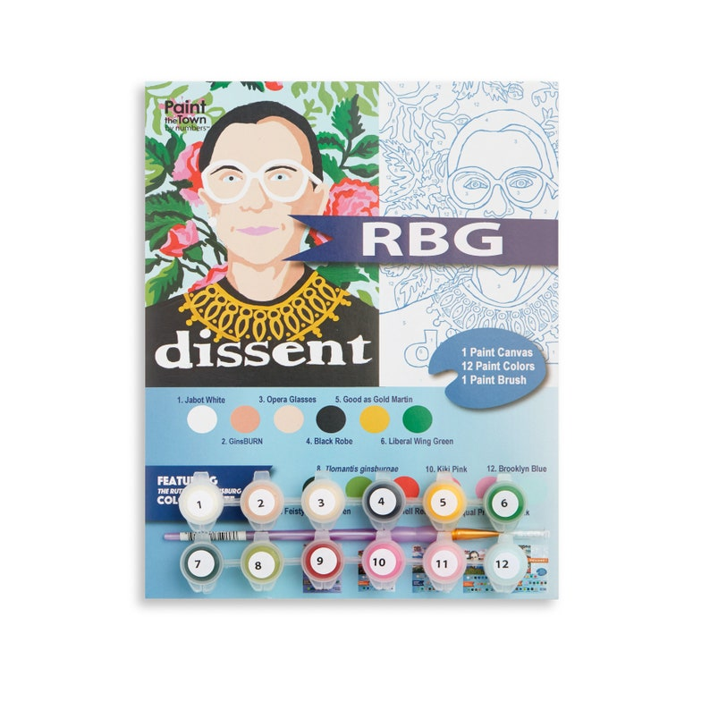 RBG /  Ruth Bader Ginsberg / Paint  DIY / Paint by Numbers / image 0