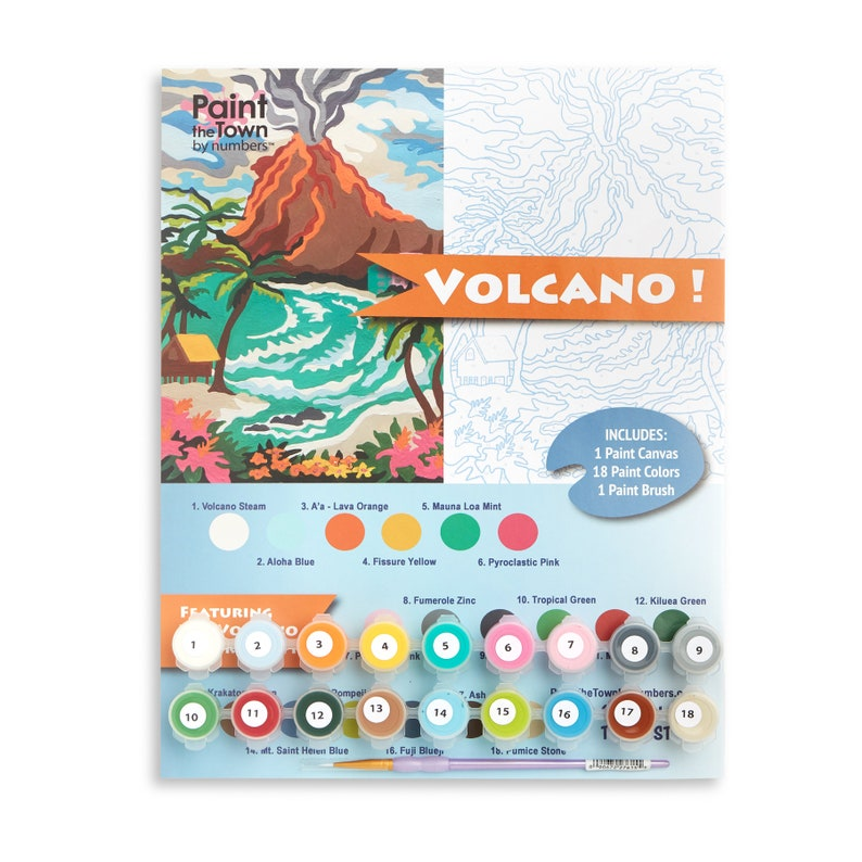 Volcano / Paint by Numbers Kit / DIY / Paint by Number / image 0