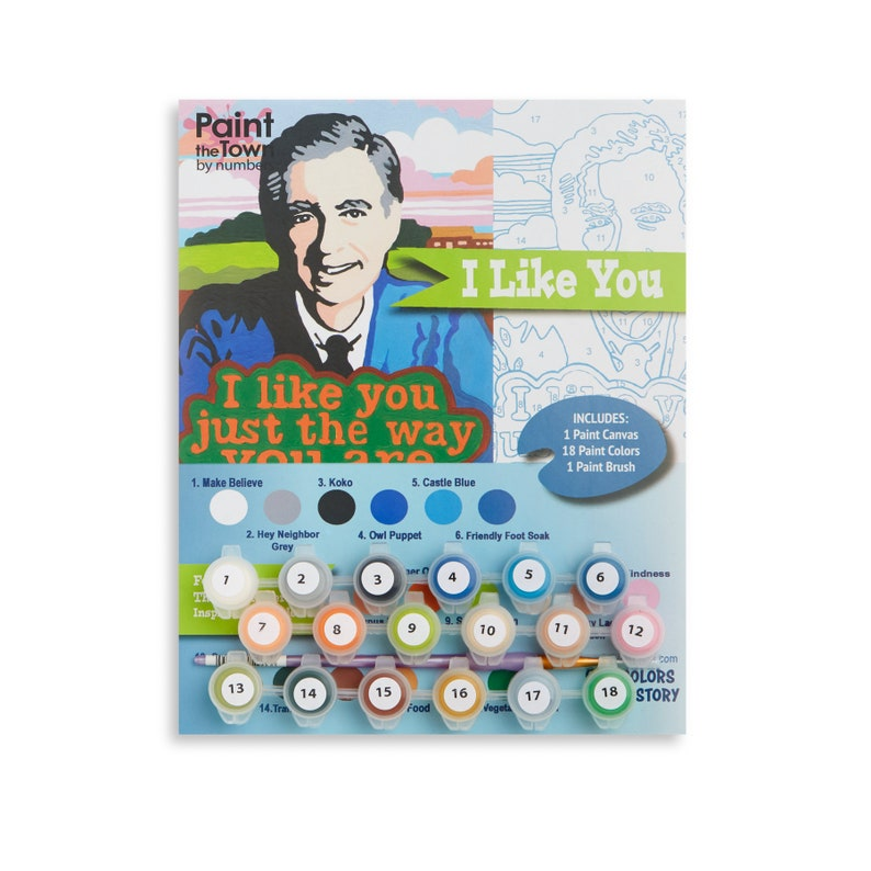 Paint by Numbers Kit /  Mr. Rogers /  DIY / Paint by Number image 0