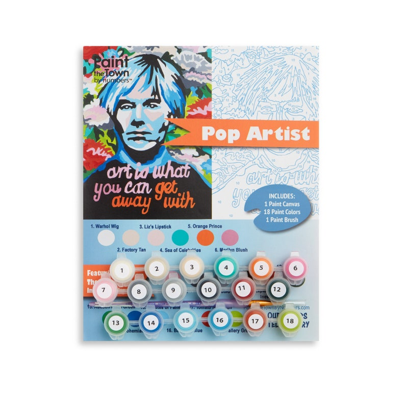 Warhol Paint by Numbers Kit / Paint by Number /   Andy Warhol image 0