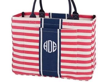 Monogrammed Tote Bag - Day Tripper Pink
