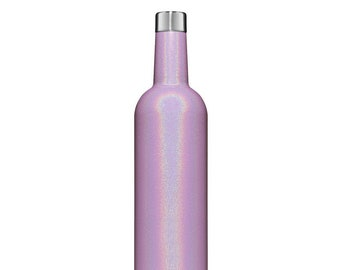 BruMate Winesulator Violet Glitter Monogrammed