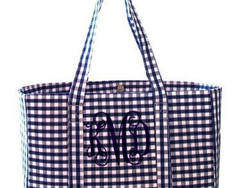Monogrammed Diaper Bag - Gingham