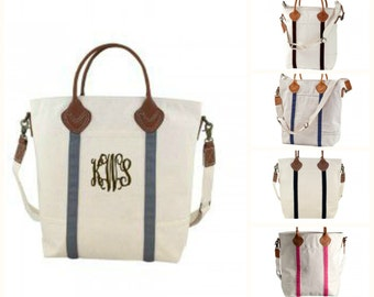 Monogrammed Flight Bag Canvas Tote Cary On
