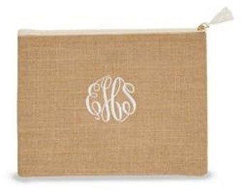 Monogrammed Carry All - Natural Jute