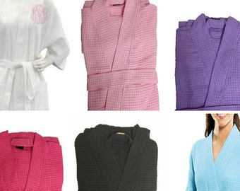 Monogrammed Waffle Weave Robes