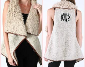 Monogrammed Fur Vest - Faux Fur