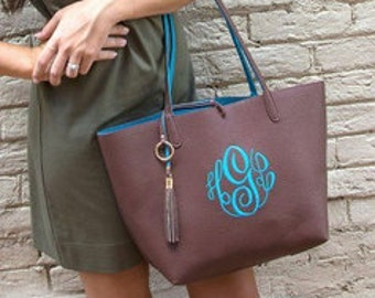 Monogrammed Purse - tassel bag