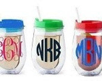 Monogrammed Tumber - Acrylic Drink to Go