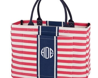Monogrammed Tote Bag - Day Tripper Pink