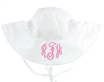 Girls Sun Hat in White