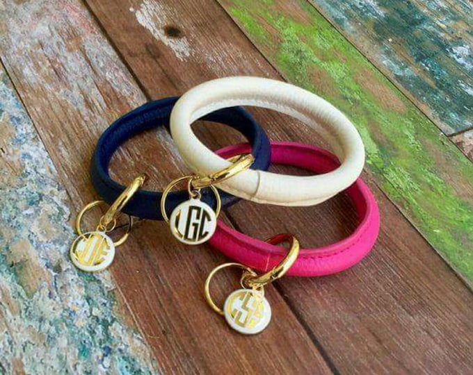 Featured listing image: Monogrammed Bracelet Key Ring