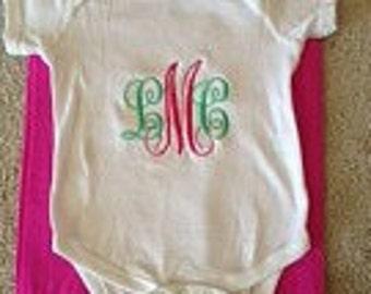 Monogrammed Onesie- Baby Bodysuit
