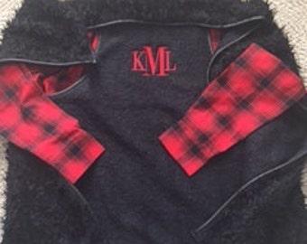 Monogrammed Fur Vest
