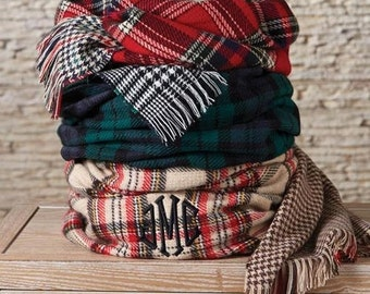 Mononogrammed Blanket Scarf SALE