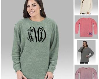 Monogrammed Oversized Sweatshirt