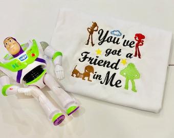 Toy Story Tee Shirt You've Got a Friend in Me Kids Shirt