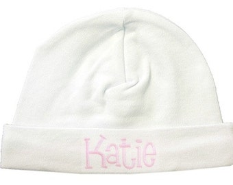 Monogrammed Coming Home Baby Cap