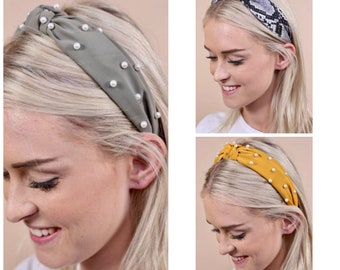 Knotted Pearl Headband Hair Accessory