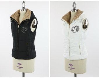 Monogrammed Vest- Hooded Puffer Vest