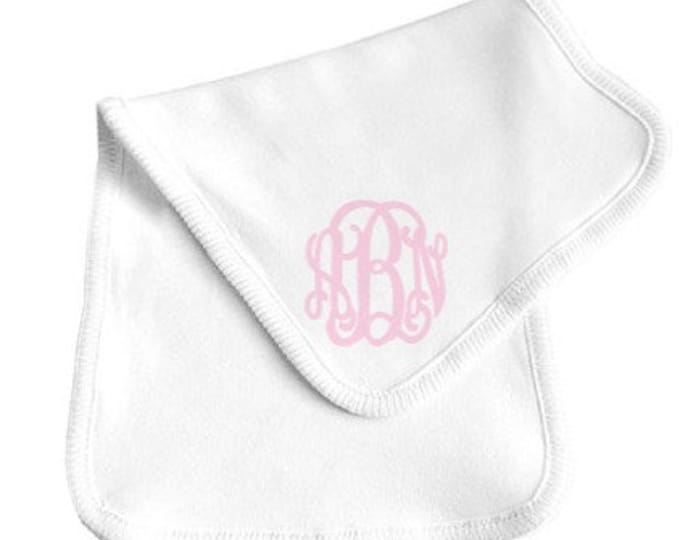 Featured listing image: Monogrammed Burp Cloth Gender Neutral