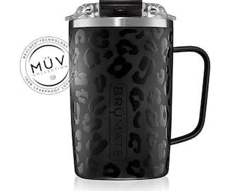 Monogrammed BruMate Toddy in Onyx Leopard 16oz Mug