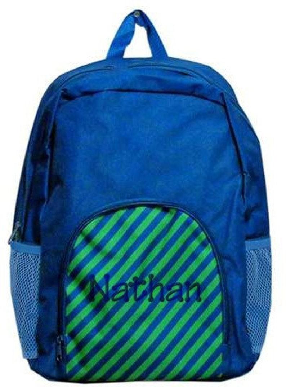 navy backpack Monogrammed Bookbag