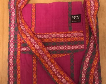 Handwoven Bag in 100% Organic Cotton- exclusive single piece