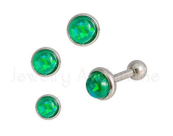 Sparkle Opal Medley Cartilage Tragus Earring 316L Surgical Steel