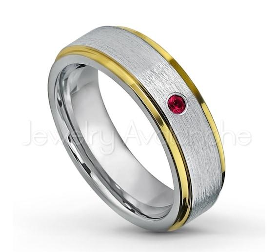 0.21ctw Aquamarine 3-Stone Titanium Ring 6MM Brushed Finish Comfort Fit Classic Dome White Wedding Band 7 March Birthstone Ring