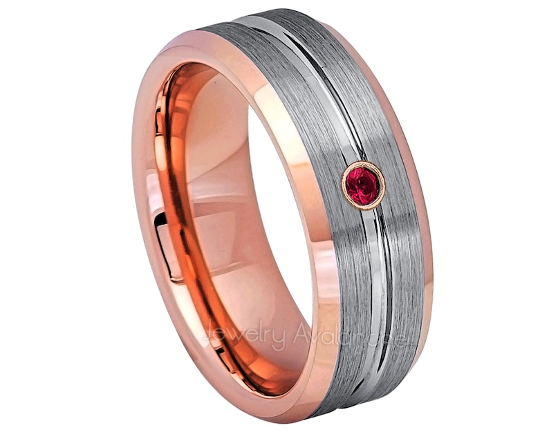 Anniversary Band 0.07ct Diamond Tungsten Carbide Ring Jewelry Avalanche 8mm Brushed Black IP Beveled Tungsten Carbide Wedding Ring