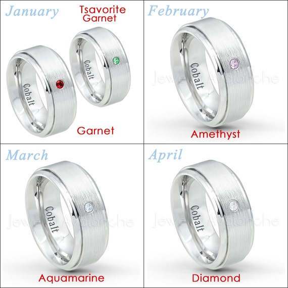 Brushed Finish Cobalt Anniversary Band CT251 0.07ct Men/'s Ruby Ring 9mm Comfort Fit Cobalt Chrome Wedding Ring July Birthstone Ring