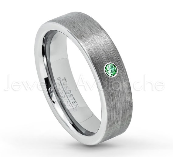6mm Ladies Tungsten Carbide Black Brushed Finished Pipe Cut Wedding Band Ring