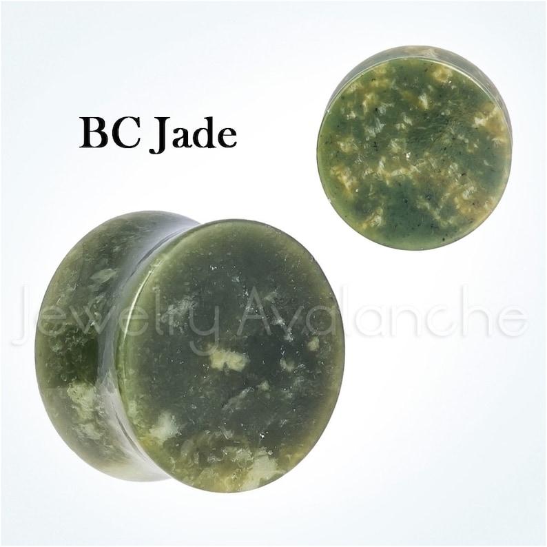 1 x Black White Pyrite Quartz Stone Double Flared Ear Lobe Plug Choice of Size