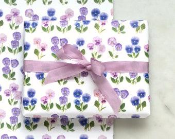 Gift wrap ~ pansies