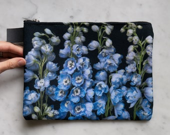 Botanical Bag ~ Zipper carry all ~ pouch ~ makeup case ~ ipad case