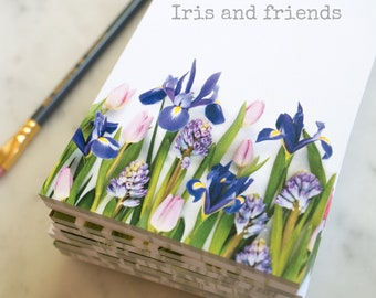 Botanical Note Pads  ~ iris ~ ferns ~ jack in the pulpit ~ memo pad ~  floral stationery
