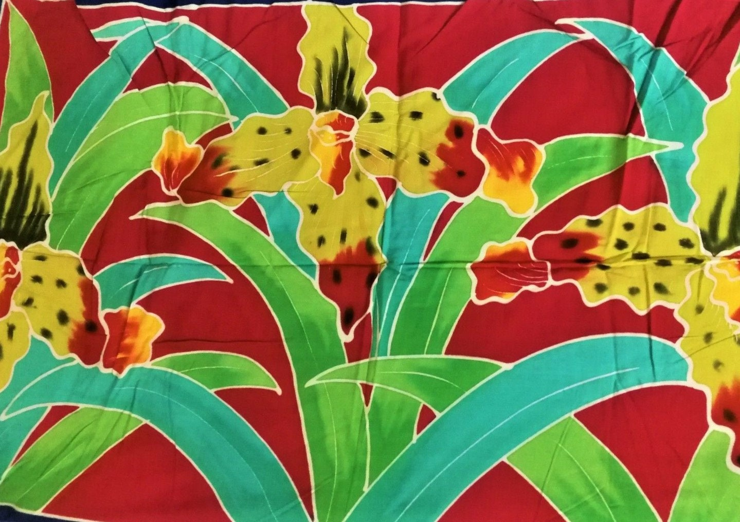 Vintage Scarf Styles -1920s to 1960s Vintage 100 Percent Rayon Half Sarong, Hand Painted in Indonesia, Mothers Day Gift, Wall Hanging, Summer Cover Up, Wrap, Scarf, Pics $0.00 AT vintagedancer.com