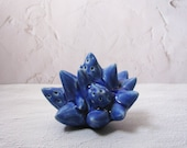 cobalt blue spiky object / mini sculpture by echo of nature, yumiko Goto