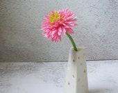 silky white porcelain vase / triangle ceramic vase by echo of nature , Yumiko Goto