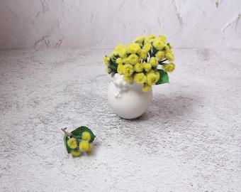 mini porcelain white vase / windowsill ceramic vase by echo of nature, Yumiko Goto