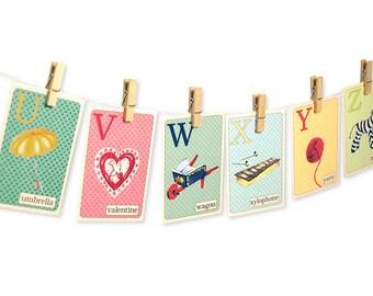 Alphabet Flashcards Printable Abc Cards Nursery Wall Etsy