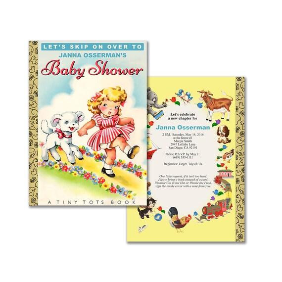 Storybook Baby Shower Invitation Diy Printable Invitation Etsy
