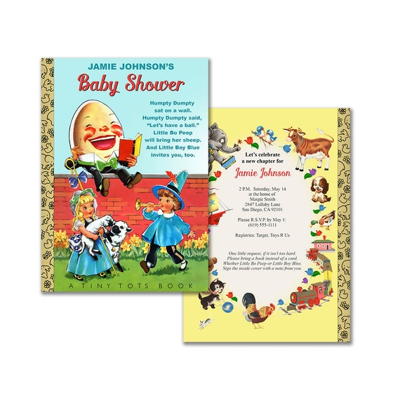 Baby Shower Nursery Rhyme Invitation Humpty Dumpty Book Printable