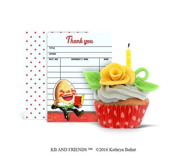 photograph relating to Humpty Dumpty Printable referred to as Printable thank by yourself card / nursery rhyme library card