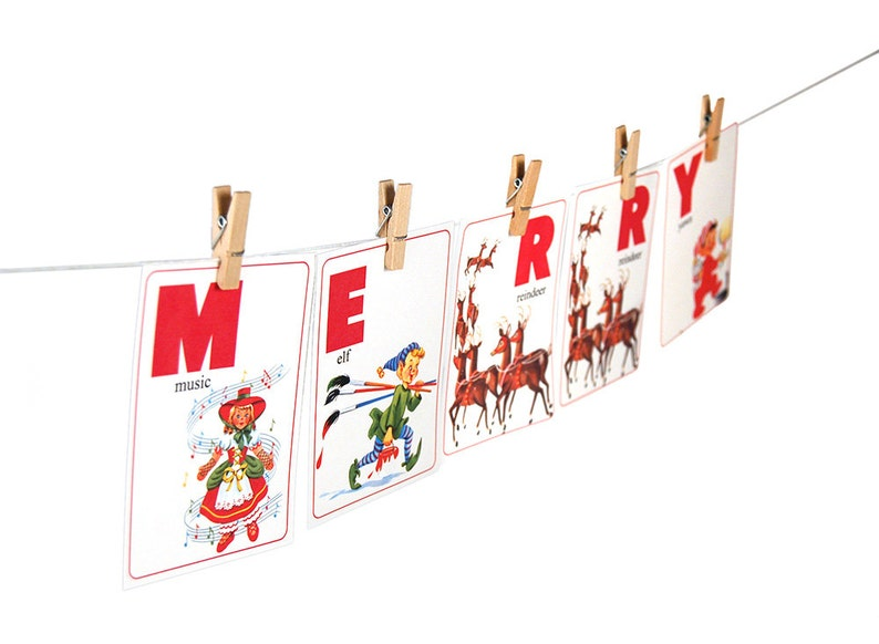 picture relating to Printable Christmas Letters called Xmas alphabet flashcards / printable ABC letters / Xmas ABC flashcards / Santa flashcards with illustrations or photos / enlightening flashcards