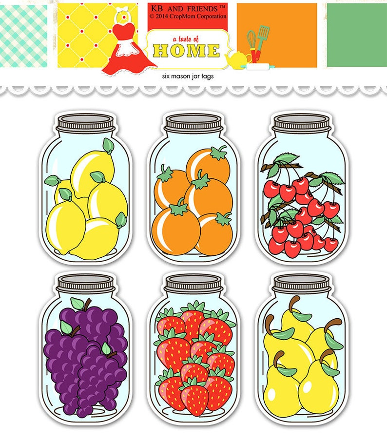 picture relating to Printable Mason Jar Tags called Fruit mason jar tags / printable food stuff labels / electronic collage sheet / immediate obtain / food items present tags / printable jar / canning labels