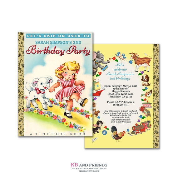 storybook birthday invitation diy printable invitation etsy